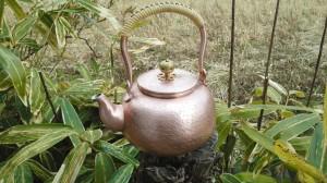 銅の湯沸かし