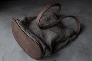 革と布の鞄写真