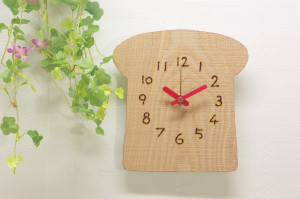 食パンの時計